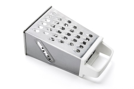 homeware: Grater on White Background Stock Photo