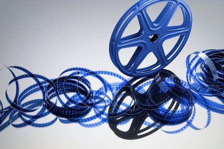 film making: Film Reel with Reflection