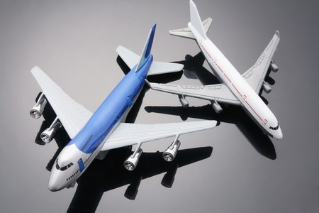 Toy Planes with Reflection photo