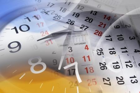 punctual: Compuesto de reloj y páginas de calendario