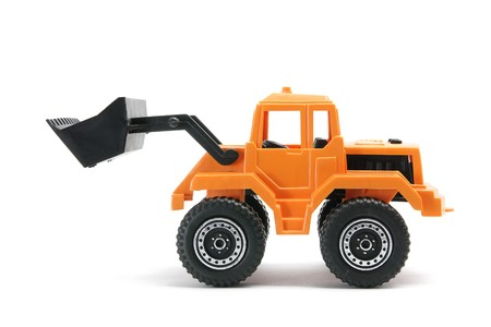 earth mover: Toy Earth Mover on White Background