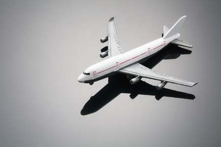 Toy Plane with Reflection Stock Photo