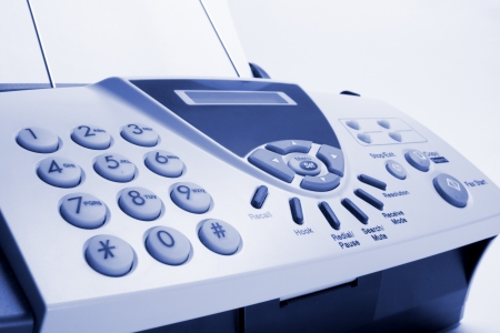 Close Up of Fax Machine Stock Photo - 7852924