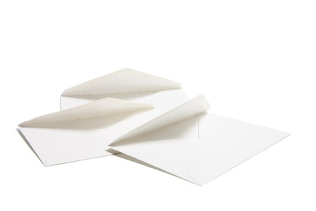 isolated on the white background: Blank Envelopes on Isolated White Background