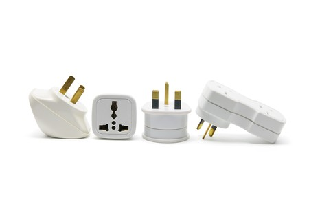 Power Adaptors on White Background Stock Photo - 7974655
