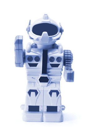 Toy Robot on White Background Stock Photo - 7974671