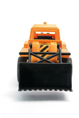 earthmover: Toy Earth Mover on White Background