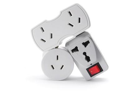 Power Plugs on White Background Stock Photo - 8002766