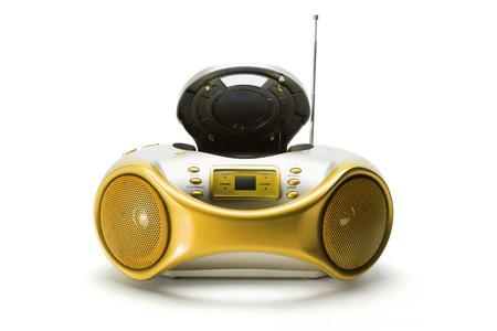 Portable Radio and CD Player on White Background Stock Photo - 8002865