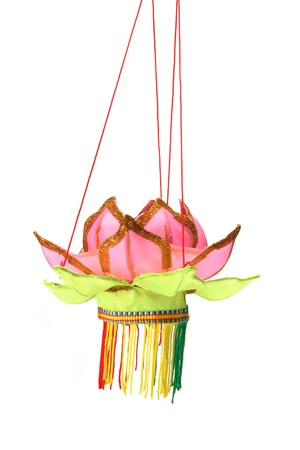 Chinese Paper Lantern on White Background Stock Photo - 8002822