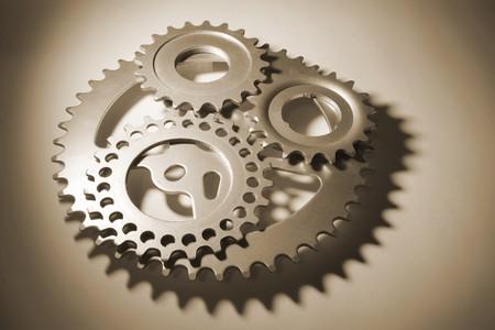 Gear Wheels in Sepia Tone photo