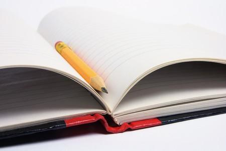 note book: Close Up of a matita e Note Book