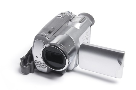 Video Camera on White Background Stock Photo - 8002819
