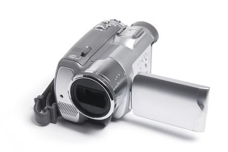 Video Camera on White Background Stock Photo - 8002819