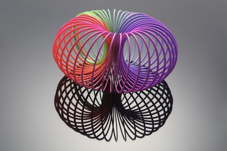 Slinky mit Reflektion
