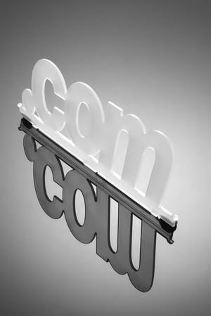 dot com: Dot Com Symbol with Reflection