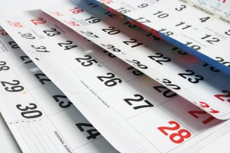 meses del a�o: Cierre arriba de las p�ginas del calendario