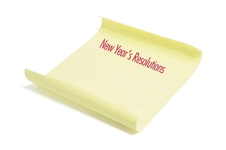 New Year's Resolutions on White Background Stock Photo - 8087238