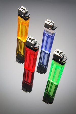 Cigarette Lighters with Reflection photo