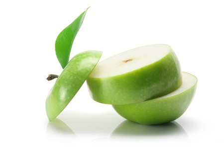cut out: Granny Smith Apple on White Background