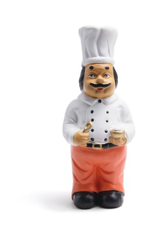 Indian Chef on White Background photo