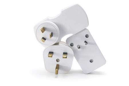 Power Plugs on White Background Stock Photo - 8228475