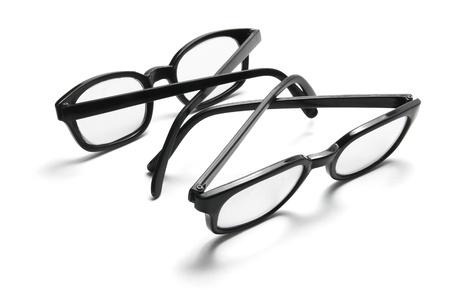 eyeglass frame: Eye Glasses on White Background Stock Photo