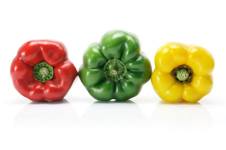 Capsicums on White Background photo