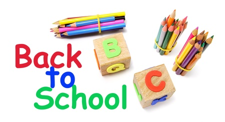 Back to School Concept on White Background photo