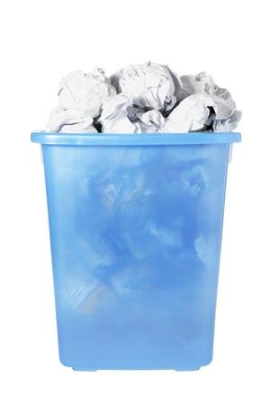 wastebasket: Wastebasket on White Background Stock Photo