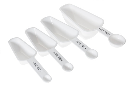 measuring spoons: Measuring Spoons on White Background
