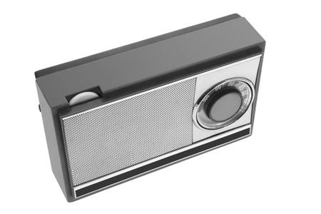 transistor: Radio de transistores sobre fondo blanco