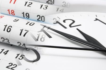 calendario: Compuesto de reloj y las p�ginas del calendario