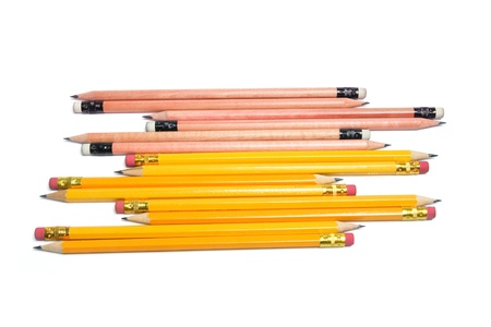 Pencils on White Background Stock Photo - 8411751