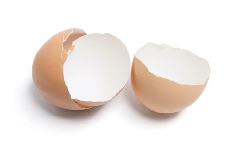 Egg Shells on White Background Stock Photo - 8411726