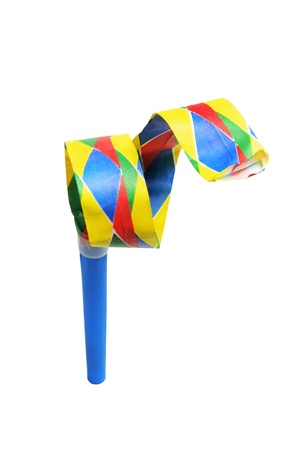 Party Blower on White Background Stock Photo - 8411723