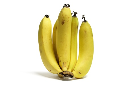 A Bunch of Banana on White Background photo