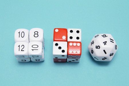 Dice on Blue Background photo