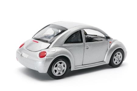 toy car: Miniature Car on White Background Stock Photo