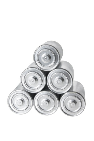 Stack of Batteries on White Background Stock Photo - 8494622