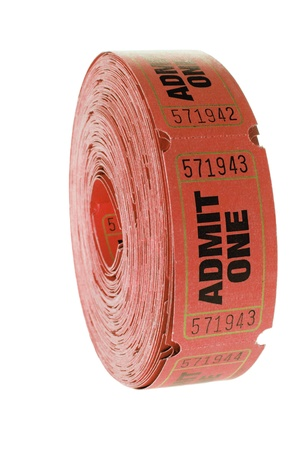Reel of Tickets on White Background Stock Photo - 8820441