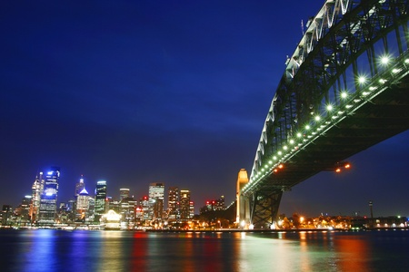 Sydney Harbour Bridge in Night Scene