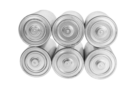 Stack of Batteries on White Background Stock Photo - 8858079