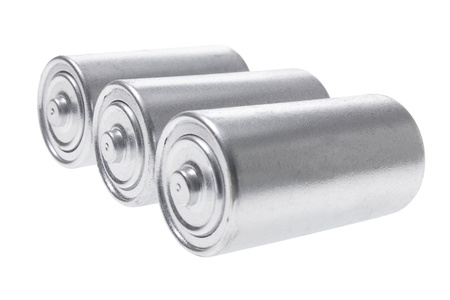 Batteries on White Background photo