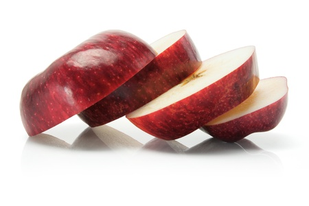 cut out: Red Delicious Apple on White Background Stock Photo