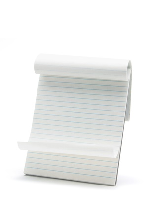 note pad: Note Pad on White Background Stock Photo