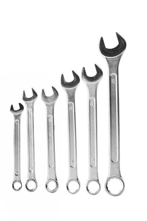 Spanners on White Background photo