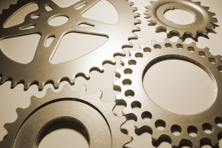Close Up of Gear Wheels  photo