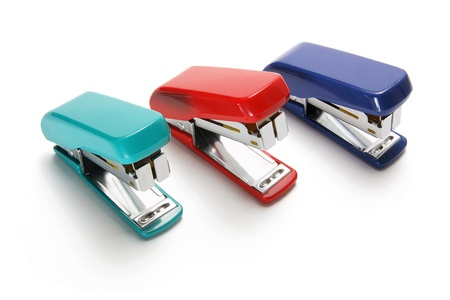 Staplers on White Background photo