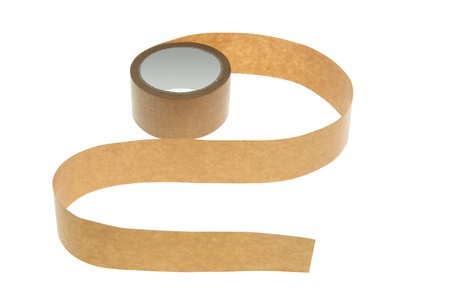packing tape: Packing Tape on White Background